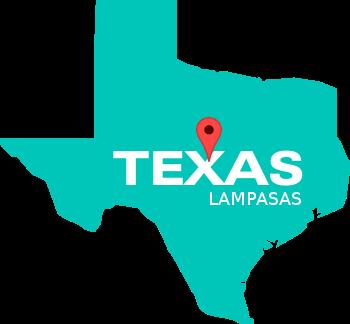 Lampasas, TX Map